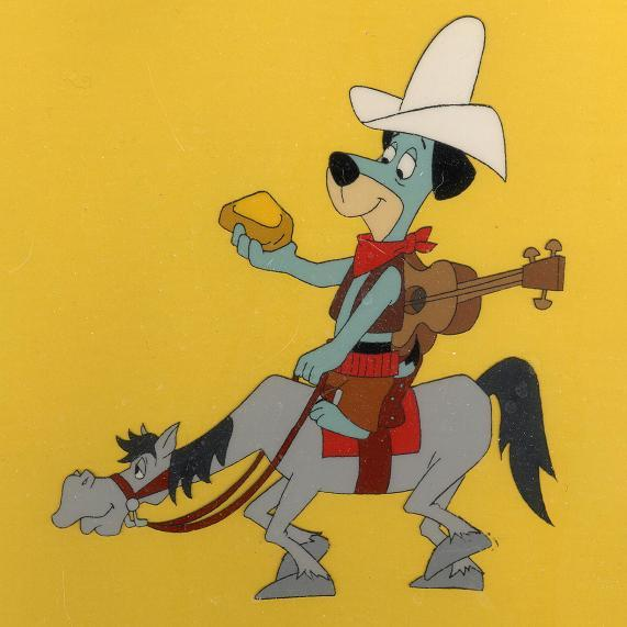 #H7 - Huckleberry Hound, 'The Good, The Bad and The Huckleberry', (1988). (Framed)