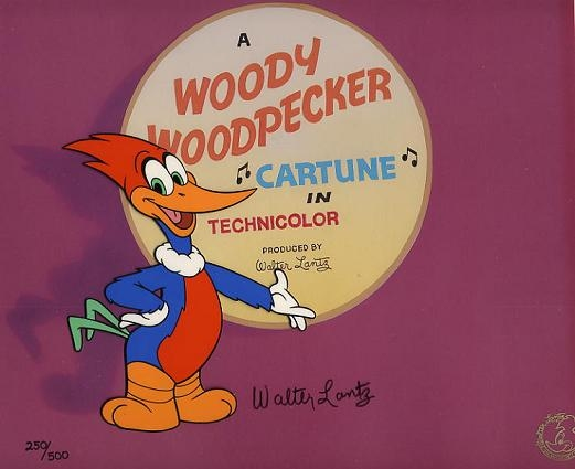 #WL1 - Woody Woodpecker, Limited Edition 'Green Eyed Woody',(1993). (Matted)