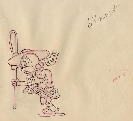 #CS12 - Columbia Studio 'Little Lost Sheep', Bo Peep Drawing (1939).