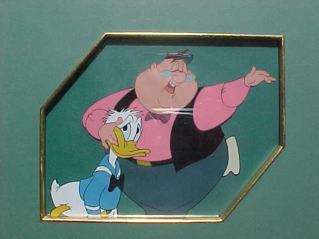 #DG8 - Duck for Hire, 'Woodlore and Donald Duck', (1957). (Matted And Framed W/Original Art Corner Seal)