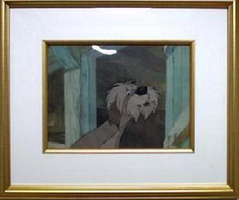 #DG13 - Disney '101 Dalmatians', 'The Colonel', (1961). (Matted And Framed W/Original Art Corner Seal)