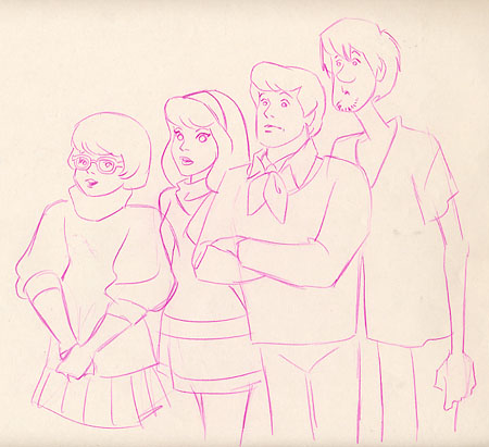 #H20 - Scooby-Doo, 'Shaggy, Freddy, Daphne and Velma' (c1970's).