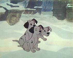 #D1 - 101 Dalmatians,'The pups', (1961). (Original Matte & Art Corner Gold Seal)